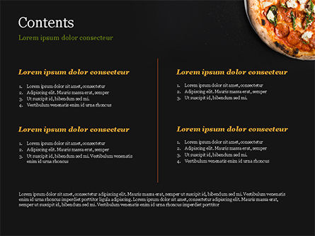 Pepperoni Pizza PowerPoint Template, Slide 2, 15269, Food & Beverage — PoweredTemplate.com