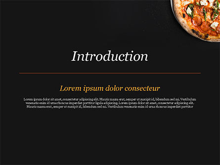 Pepperoni Pizza PowerPoint Template, Slide 3, 15269, Food & Beverage — PoweredTemplate.com