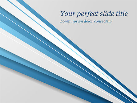 Abstract/Textures: Blue and White Diagonal Lines Abstract PowerPoint Template #15270