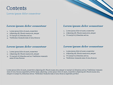Blue and White Diagonal Lines Abstract PowerPoint Template, Slide 2, 15270, Abstract/Textures — PoweredTemplate.com
