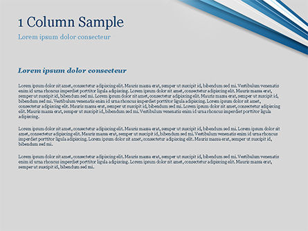 Blue and White Diagonal Lines Abstract PowerPoint Template, Slide 4, 15270, Abstract/Textures — PoweredTemplate.com