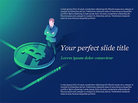 Technology and Science: Bitcoin Mining  Concept PowerPoint Template #15272