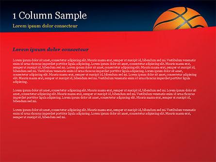Basketball Ball on Blue Background PowerPoint Template, Slide 4, 15274, Sports — PoweredTemplate.com