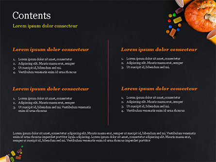 Halloween Sweets PowerPoint Template, Slide 2, 15275, Holiday/Special Occasion — PoweredTemplate.com