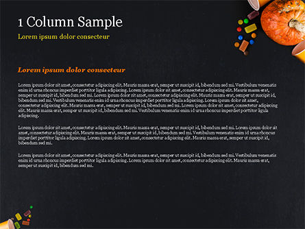 Halloween Sweets PowerPoint Template, Slide 4, 15275, Holiday/Special Occasion — PoweredTemplate.com