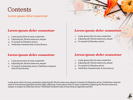 Halloween Decorations PowerPoint Template, Slide 2, 15276, Holiday/Special Occasion — PoweredTemplate.com