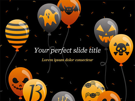 Halloween Balloons Powerpoint Template Backgrounds 15277