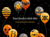 Holiday/Special Occasion: Halloween Balloons PowerPoint Template #15277