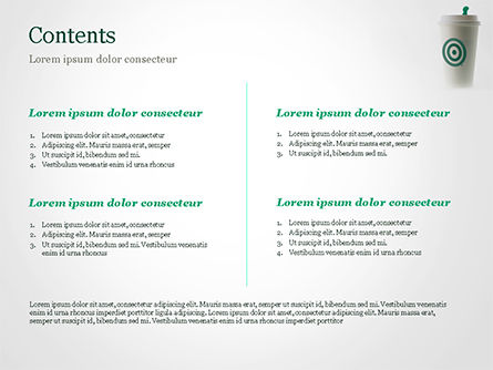Starbucks PowerPoint Template, Slide 2, 15278, Food & Beverage — PoweredTemplate.com