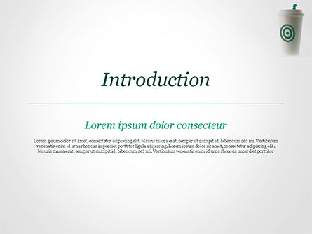 Starbucks PowerPoint Template, Slide 3, 15278, Food & Beverage — PoweredTemplate.com