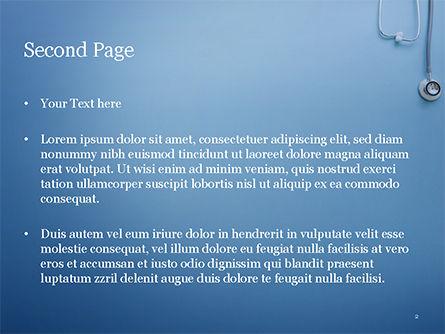 Stethoscope PowerPoint Template, Slide 2, 15279, Medical — PoweredTemplate.com
