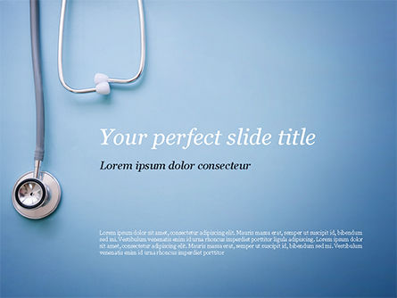Stethoscope PowerPoint Template, 15279, Medical — PoweredTemplate.com