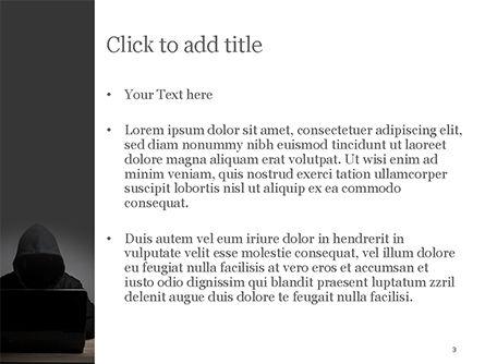 Computer Hacker PowerPoint Template, Slide 3, 15280, Technology and Science — PoweredTemplate.com