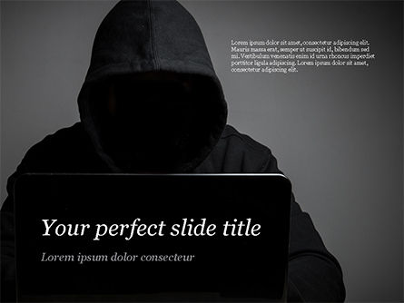 Technology and Science: Computer Hacker PowerPoint Template #15280