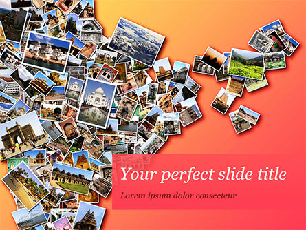 Photo Collection with Famous Indian Places PowerPoint Template, 15281, Holiday/Special Occasion — PoweredTemplate.com