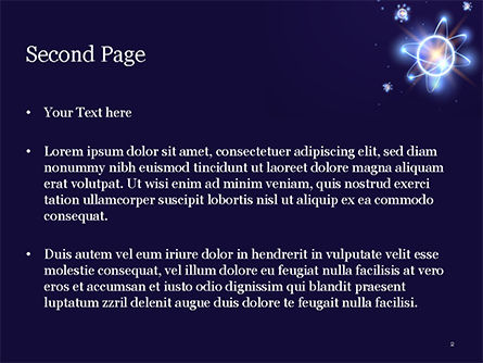 Shining Atom Model PowerPoint Template, Slide 2, 15282, Technology and Science — PoweredTemplate.com