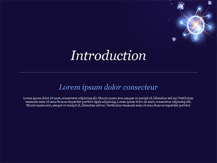 Shining Atom Model PowerPoint Template, Slide 3, 15282, Technology and Science — PoweredTemplate.com