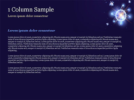 Shining Atom Model PowerPoint Template, Slide 4, 15282, Technology and Science — PoweredTemplate.com