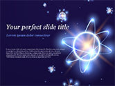 Technology and Science: Shining Atom Model PowerPoint Template #15282
