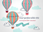 Holiday/Special Occasion: Vintage Hot Air Balloons PowerPoint Template #15283