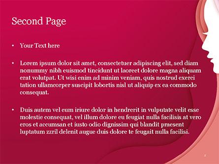 Woman Silhouette PowerPoint Template, Slide 2, 15284, Careers/Industry — PoweredTemplate.com