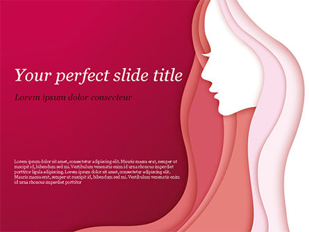 Women Silhouette PowerPoint Template, 15284, Careers/Industry — PoweredTemplate.com