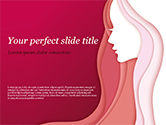 Careers/Industry: Woman Silhouette PowerPoint Template #15284