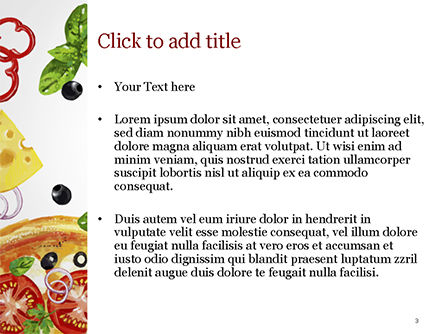 Margarita Pizza PowerPoint Template, Slide 3, 15286, Food & Beverage — PoweredTemplate.com