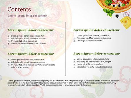 Margarita Pizza PowerPoint Template, Slide 2, 15286, Food & Beverage — PoweredTemplate.com