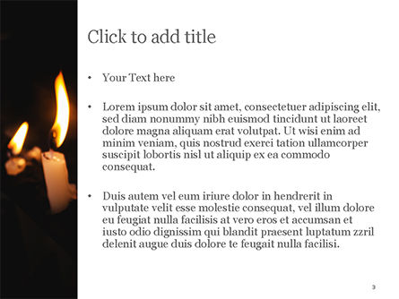 Burning Candles PowerPoint Template, Slide 3, 15288, Holiday/Special Occasion — PoweredTemplate.com
