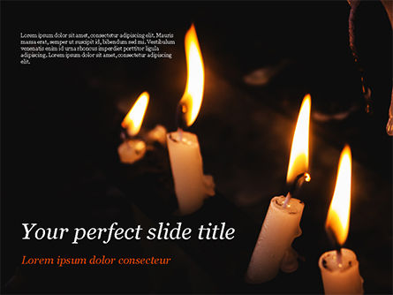 Holiday/Special Occasion: Burning Candles PowerPoint Template #15288