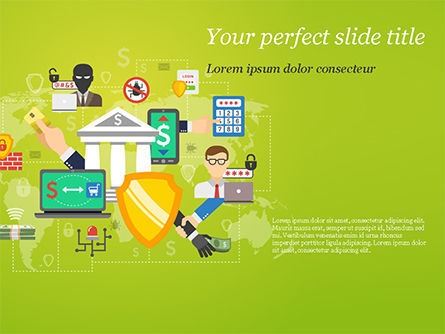 Financial/Accounting: Beveiliging Van Internetbankieren PowerPoint Template #15289