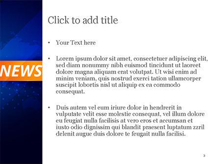 Breaking News Background PowerPoint Template, Slide 3, 15291, Careers/Industry — PoweredTemplate.com