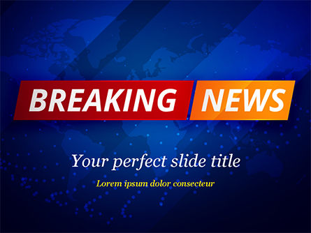 Breaking News Background Powerpoint Template Backgrounds