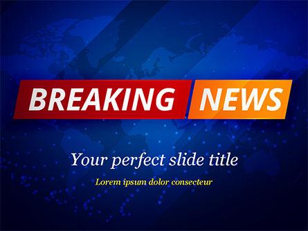 Careers/Industry: Breaking News Background PowerPoint Template #15291