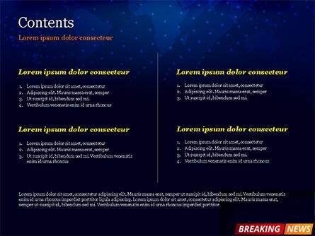 Breaking News Background PowerPoint Template, Slide 2, 15291, Careers/Industry — PoweredTemplate.com