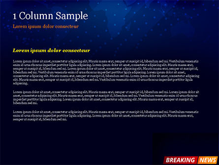 Breaking News Background PowerPoint Template, Slide 4, 15291, Careers/Industry — PoweredTemplate.com