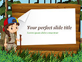 Education & Training: Modello PowerPoint - Ragazza scout #15292