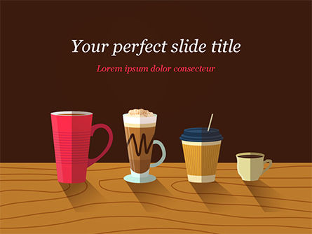 Food & Beverage: Hot Drinks PowerPoint Template #15294