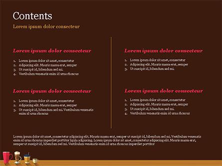 Hot Drinks PowerPoint Template, Slide 2, 15294, Food & Beverage — PoweredTemplate.com