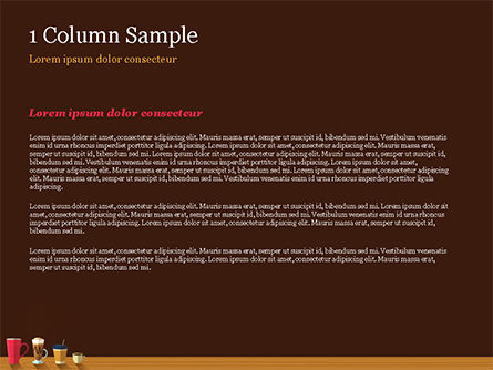 Hot Drinks PowerPoint Template, Slide 4, 15294, Food & Beverage — PoweredTemplate.com