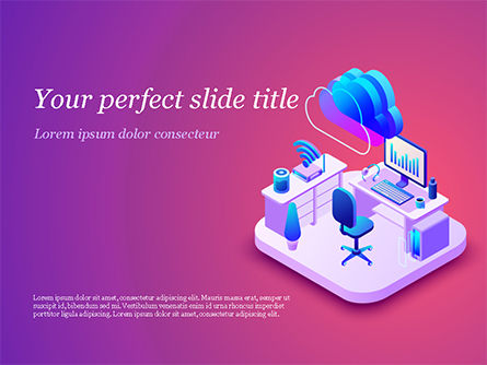 Smart Office PowerPoint Template, 15295, Technology and Science — PoweredTemplate.com