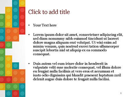 Colorful Lego Blocks PowerPoint Template, Slide 3, 15301, Business Concepts — PoweredTemplate.com