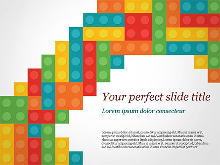 Business Concepts: Colorful Lego Blocks PowerPoint Template #15301