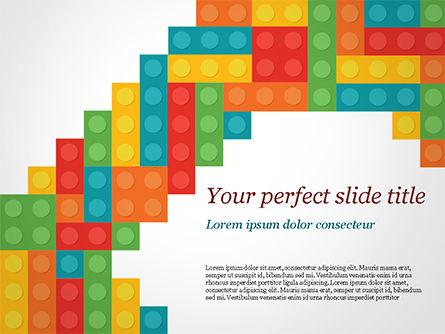 Business Concepts: Modelo do PowerPoint - blocos coloridos de lego #15301