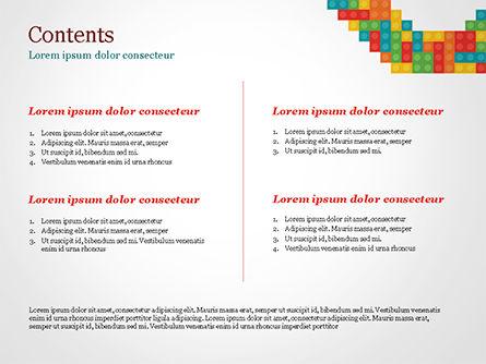 Colorful Lego Blocks PowerPoint Template, Slide 2, 15301, Business Concepts — PoweredTemplate.com