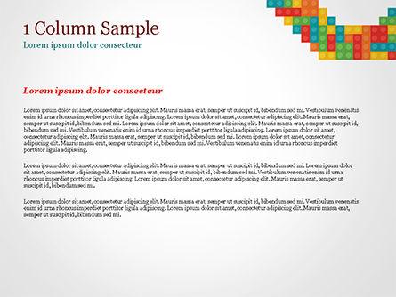 Colorful Lego Blocks PowerPoint Template, Slide 4, 15301, Business Concepts — PoweredTemplate.com