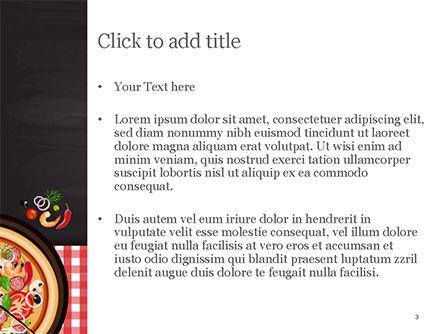 Spicy Shrimp Pizza PowerPoint Template, Slide 3, 15303, Food & Beverage — PoweredTemplate.com