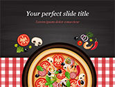 Food & Beverage: Spicy Shrimp Pizza PowerPoint Template #15303