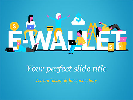 Financial/Accounting: E-wallet PowerPoint Vorlage #15304